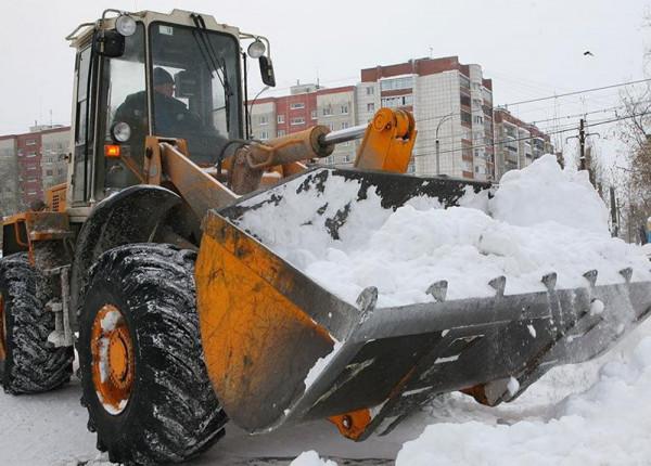 Борьба со снегом в Тихвинском районе