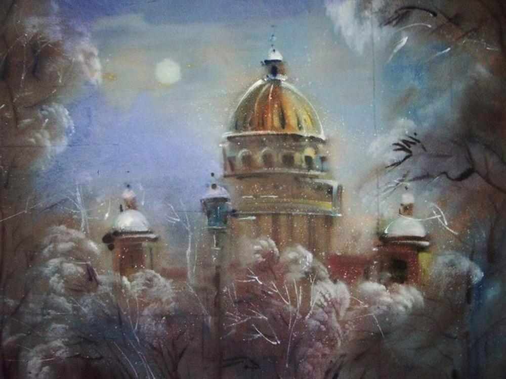 Акварельный Петербург Эльмиры Мустафиной